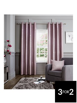 catherine-lansfield-luxury-glamour-weave-lined-eyelet-curtains