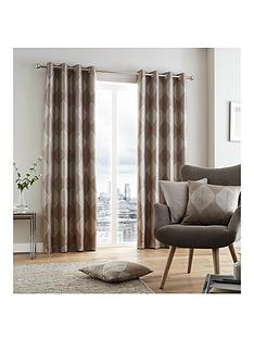 catherine-lansfield-metallic-leaf-lined-eyelet-curtains