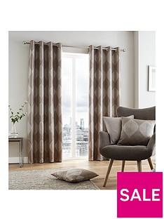 catherine-lansfield-metallic-leaf-lined-eyelet-curtains