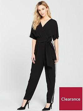 wallis-side-stripe-obi-jumpsuit-black