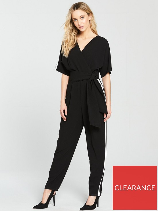 0f06ca3c9891 Wallis Side Stripe Obi Jumpsuit - Black