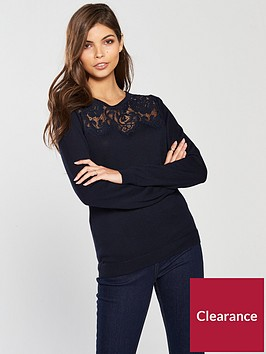 wallis-lace-yoke-knitted-jumper