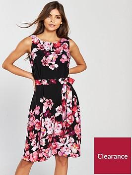 wallis-posie-print-fit-amp-flare-dress