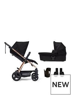 mamas-papas-mamas-amp-papas-sola2-rose-gold-4-piece-bundle-pushchair-carrycot-cupholder-amp-adaptors
