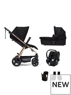 mamas-papas-mamas-amp-papas-sola2-rose-gold-5-piece-bundle-pushchair-amp-carry-cot-car-seat-adaptor-amp-cup-holder