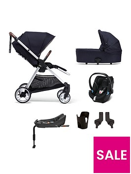 mamas-papas-flip-xt2-6-piece-bundle-pushchair-carrycot-car-seat-isofix-base-adaptor-amp-cupholder