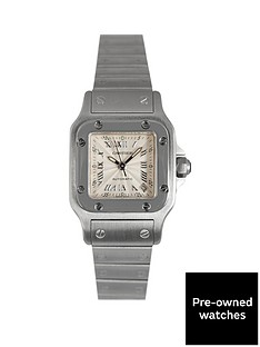 cartier-cartier-pre-owned-santos-automatic-silver-guilloche-dial-ladies-watch-ref-2423
