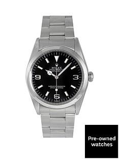 rolex-rolex-pre-owned-explorer-i-black-3-6-and-9-dial-mens-watch-ref-14270