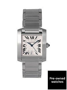 cartier-cartier-pre-owned-tank-francaise-automatic-off-white-dial-stainless-steel-mens-watch-ref-2302