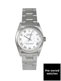 rolex-rolex-pre-owned-midsize-datejust-white-roman-numeral-dial-stainless-steel-mens-watch-ref-78240