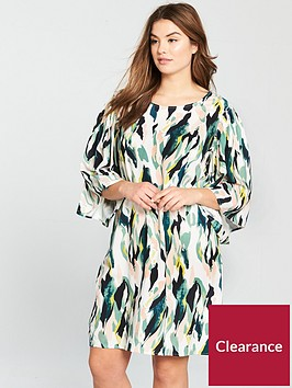junarose-kirpenbsp34-sleeve-printed-shift-dress