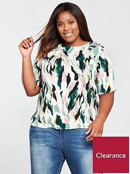 junarose-short-sleeve-blouse-printed