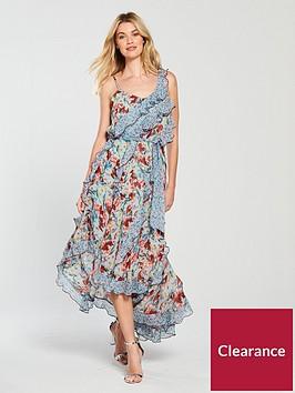 v-by-very-mixed-print-ruffle-midi-dress