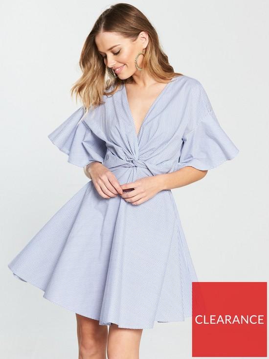 f9b3c03579e1a V by Very Knot Front Cotton Dress - Stripe | very.co.uk