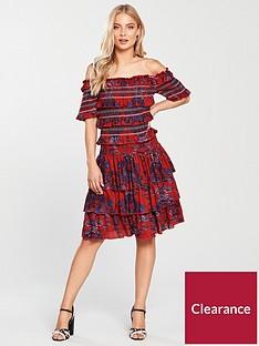 v-by-very-ruffle-bardot-dress-print