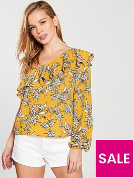 v-by-very-petite-one-shoulder-blouse-floral-printnbsp