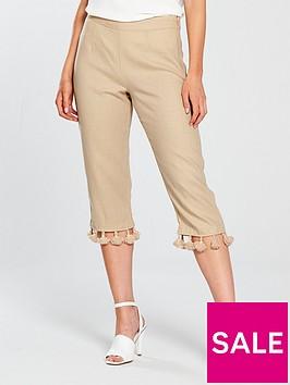 v-by-very-petite-tassel-trim-crop-linen-trouser-sand