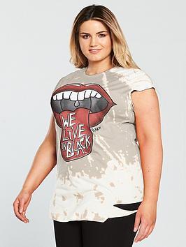 Religion Curve Lips Printed T-Shirt - Flint