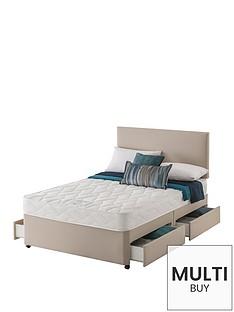 layezee-made-by-silentnightnbspfenner-bonnel-spring-divannbspbednbspwith-half-price-headboard-offer-buy-and-save