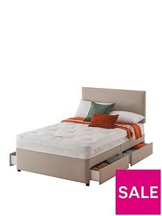 layezee-made-by-silentnightnbspfenner-bonnel-orthonbspdivan-bednbspwith-half-price-headboard-offer-buy-and-save