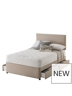 layezee-made-by-silentnight-addison-800-pocket-memory-divannbspbednbspwith-half-price-headboard-offer-buy-and-save