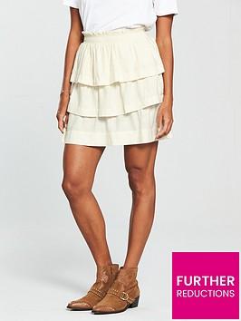 v-by-very-ruffle-linen-mix-mini-skirt--ecru