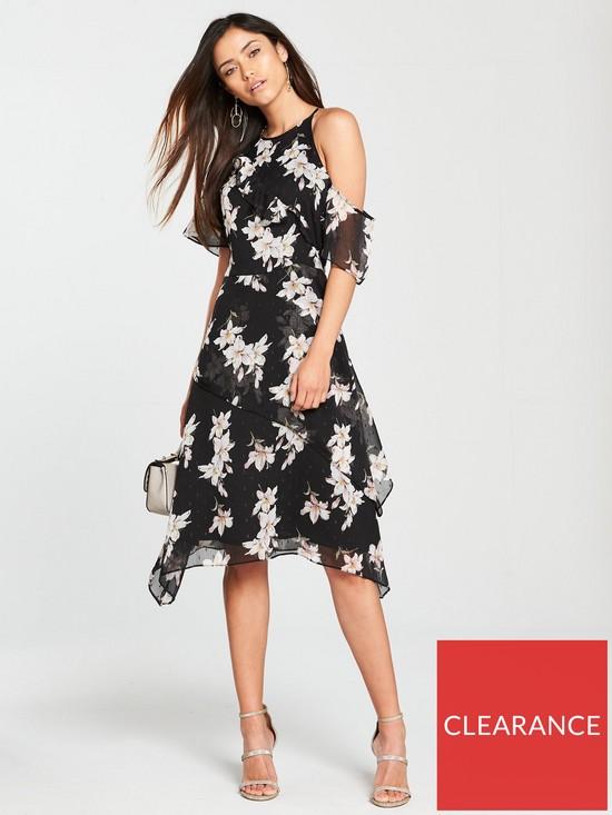 07b1848880 V by Very Ruffle One Sleeve Dress - Black