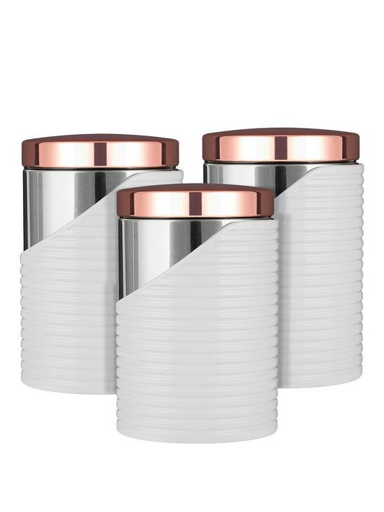 32d8ee4a92b6 Tower Linear Set of 3 Storage Canisters | very.co.uk
