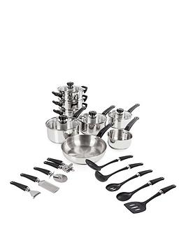 morphy-richards-equip-8-piece-stainless-steel-pan-set-with-9-piece-kitchen-tool-set