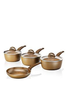 tower-cerastone-4-piece-saucepan-set-in-gold