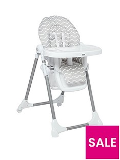 Mamas & Papas Mamas & Papas Snax Highchair - Grey Chevron