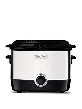 Tefal Ff220040 Mini Deep Fryer, 0.6Kg Capacity, 1000W - Stainless Steel