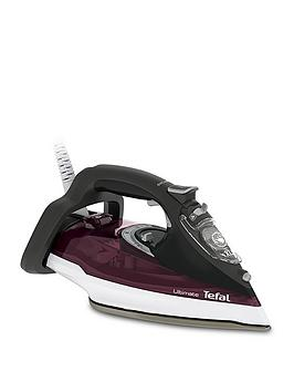 Tefal Fv9788 Ultimate Anti-Scale Steam Iron - Dark Red And Black