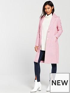 river-island-mix-check-coat--pink