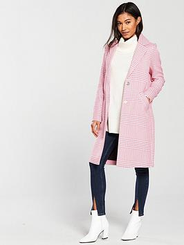 river-island-mix-check-coat--pink