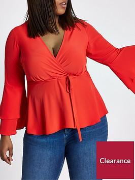 ri-plus-wrap-blouse--red