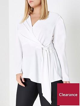 ri-plus-tie-waist-blouse--ivory