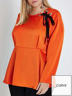 ri-plus-eyelet-blouse--orange