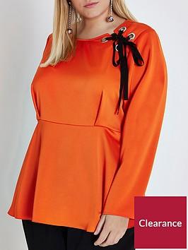 ri-plus-eyelet-blouse--orange