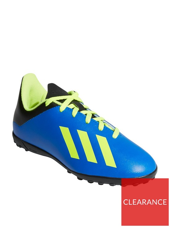 02543951a779f4 adidas Junior X 18.4 Astro Turf Football Boots - Blue