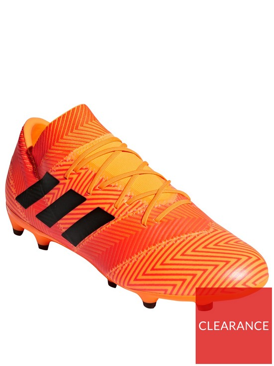 a8de237df036 adidas Mens Nemeziz 18.2 Firm Ground Football Boot - Zest Solar Red ...