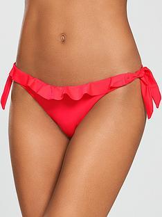river-island-frill-bikini-briefs--red