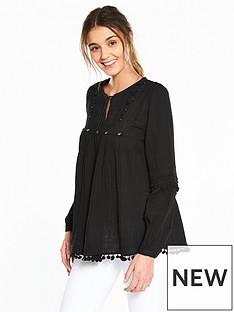 river-island-boho-blouse-black