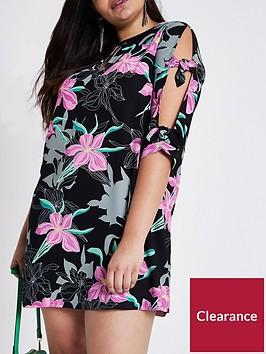ri-plus-printed-shift-dress--pink