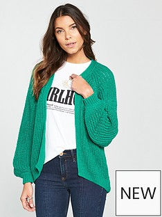 river-island-chunky-knit-cardigan--green