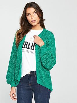 river-island-chunky-knit-cardigan--green
