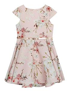 baker-by-ted-baker-girls039-light-pink-floral-print-belted-prom-dress