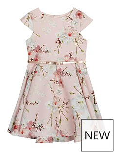 baker-by-ted-baker-girls039-light-pink-floral-print-belted-prom-dress