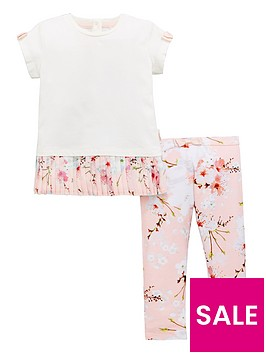 baker-by-ted-baker-toddler-girls-pleat-trim-top-amp-printed-legging-outfit
