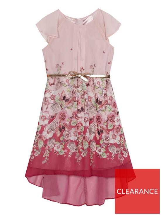 23755033bb6ab Baker by Ted Baker Girls Hi Lo Maxi Dress - Light Pink